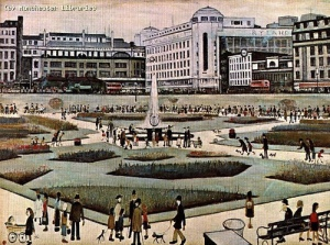 Piccadilly Gardens, by L. S. Lowry