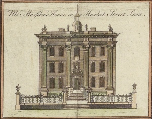 Mr Marsden's House, Market Street Lane, c.1750