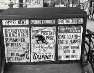 News stands, 268 Upper Chorlton Road, 1960