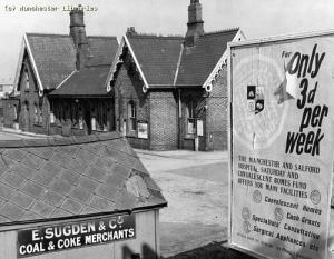 Station building, Chorlton cum Hardy, 1960 (demolished)