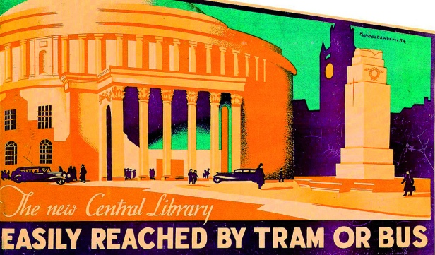 Central Library tram poster