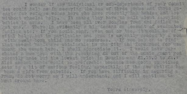 Correspondance 1-29 Nov 1940