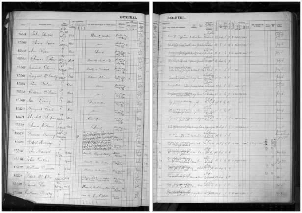 Belle Vue prison register