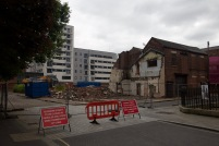 Demolition site on Blossom Street in preparation for redevelopment