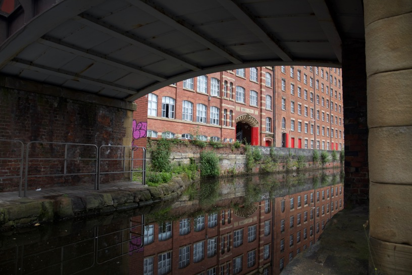 Rochdale Canal and the Royal Mills in the background