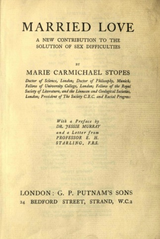 Married Love (Title page)