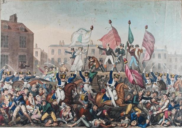 Peterloo Massacre print Richard Carlile Oct 1819